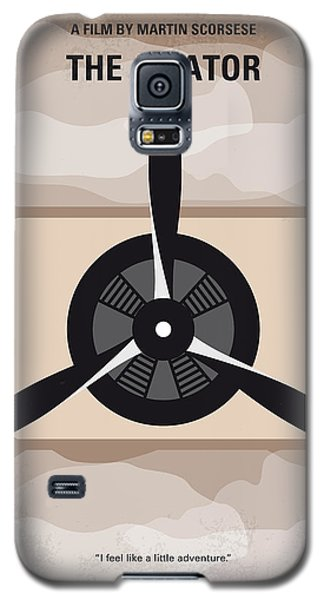 Airplane Galaxy S5 Case - No618 My The Aviator Minimal Movie Poster by Chungkong Art