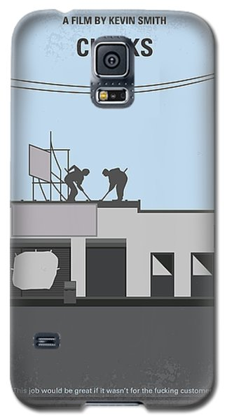 No715 My Clerks Minimal Movie Poster Galaxy S5 Case by Chungkong Art