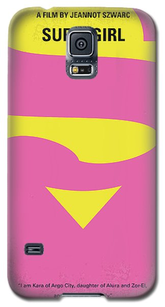 Superhero Galaxy S5 Case - No720 My Supergirl Minimal Movie Poster by Chungkong Art