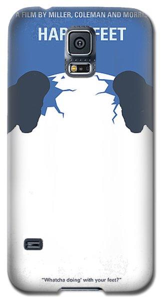 No744 My Happy Feet Minimal Movie Poster Galaxy S5 Case