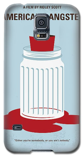 Galaxy S5 Case featuring the digital art No748 My American Gangster Minimal Movie Poster by Chungkong Art