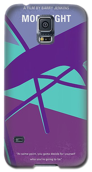Galaxy S5 Case featuring the digital art No757 My Moonlight Minimal Movie Poster by Chungkong Art
