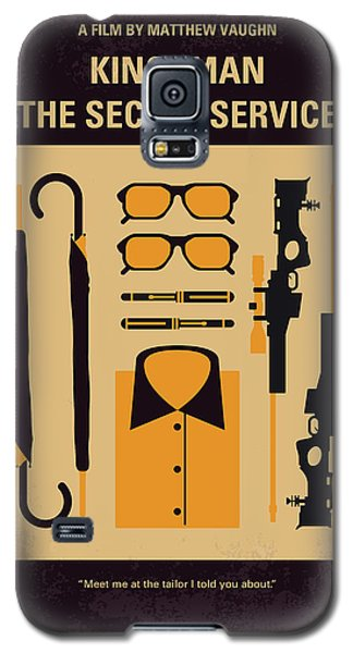Galaxy S5 Case featuring the digital art No758 My Kingsman Minimal Movie Poster by Chungkong Art