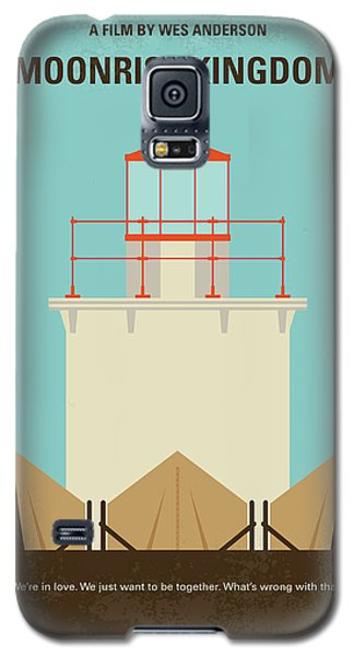 Galaxy S5 Case featuring the digital art No760 My Moonrise Kingdom Minimal Movie Poster by Chungkong Art