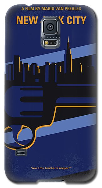 Galaxy S5 Case featuring the digital art No762 My New Jack City Minimal Movie Poster by Chungkong Art