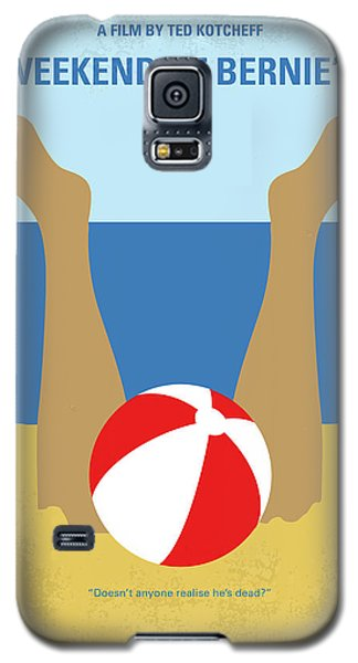 Galaxy S5 Case featuring the digital art No765 My Weekend At Bernies Minimal Movie Poster by Chungkong Art