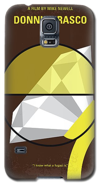 Galaxy S5 Case featuring the digital art No766 My Donnie Brasco Minimal Movie Poster by Chungkong Art