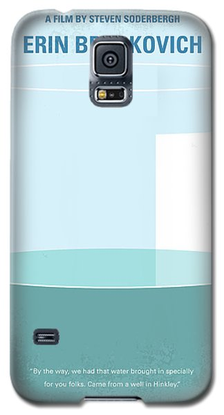 Galaxy S5 Case featuring the digital art No769 My Erin Brockovich Minimal Movie Poster by Chungkong Art