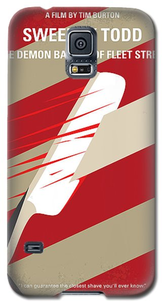 Johnny Depp Galaxy S5 Case - No849 My Sweeney Todd Minimal Movie Poster by Chungkong Art