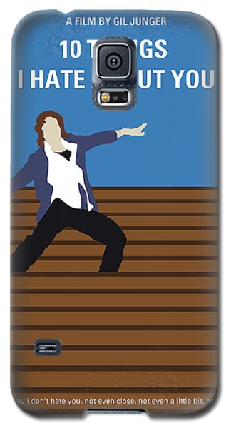 Heath Ledger Galaxy S5 Case - No850 My 10 Things I Hate About You Minimal Movie Poster by Chungkong Art