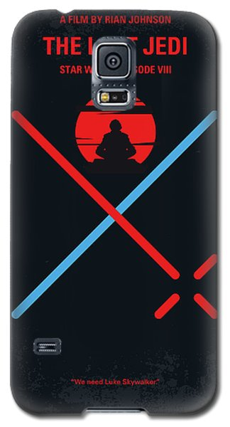 Star Wars Galaxy S5 Case - No940 My Star Wars Episode Viii The Last Jedi Minimal Movie Poster by Chungkong Art