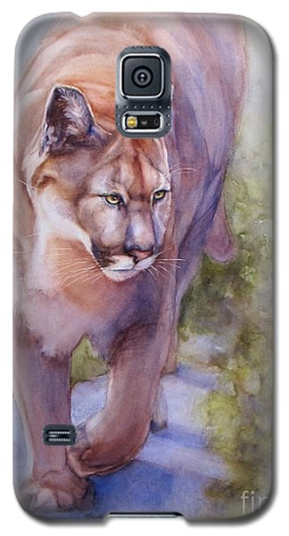 Galaxy S5 Case featuring the painting Noble Cougar by Bonnie Rinier