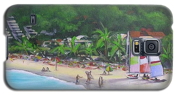 Galaxy S5 Case featuring the painting Noosa Fun Acrylic Painting by Chris Hobel