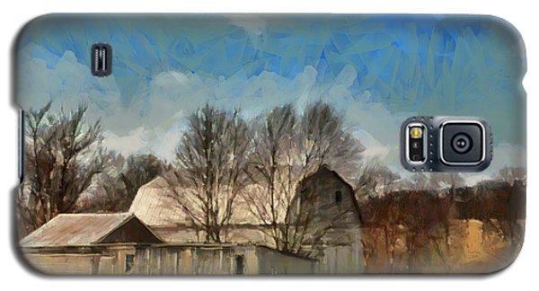 Galaxy S5 Case featuring the mixed media Norman's Homestead by Trish Tritz