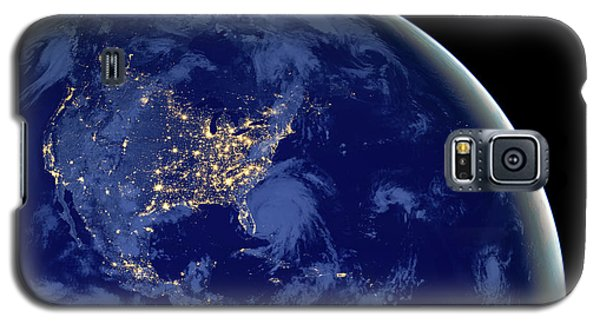 Galaxy S5 Case featuring the photograph North America From Space by Delphimages Photo Creations