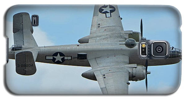 Galaxy S5 Case featuring the photograph North American B-25j Mitchell N9856c Pacific Princess Chino California April 30 2016 by Brian Lockett