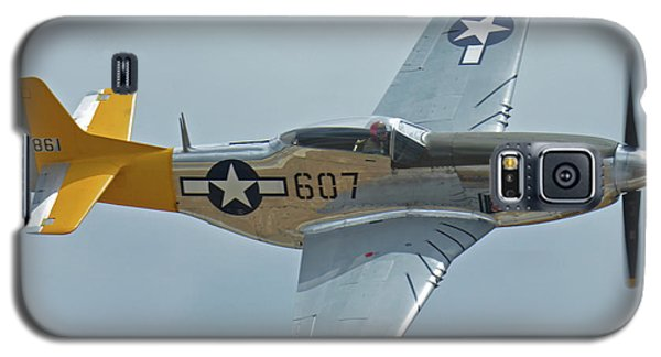 Galaxy S5 Case featuring the photograph North American P-51d Mustang Nl5441v Dolly/spam Can Chino California April 30 2016 by Brian Lockett
