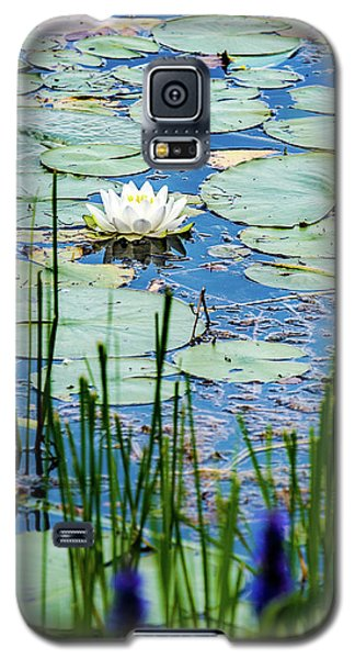 North American White Water Lily Galaxy S5 Case