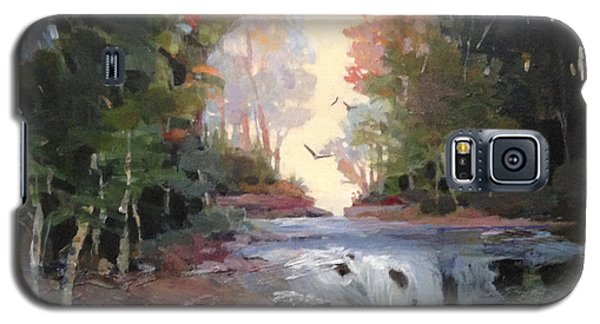 Galaxy S5 Case featuring the painting North Creek ...revisited by Helen Harris