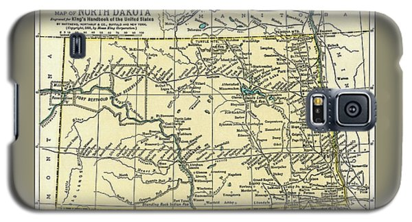 North Dakota Antique Map 1891 Galaxy S5 Case