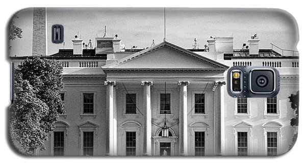 north facade from pennsylvania avenue the white house with washington monument in the background Was Galaxy S5 Case