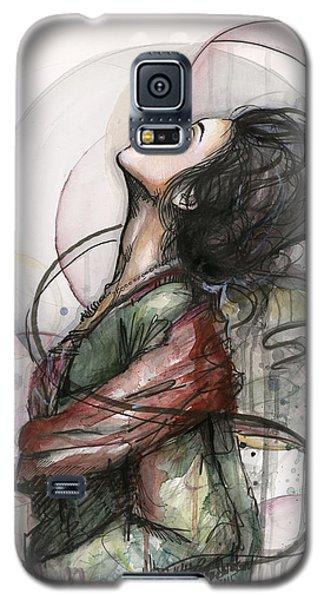 Watercolor Galaxy S5 Case - Beautiful Lady by Olga Shvartsur