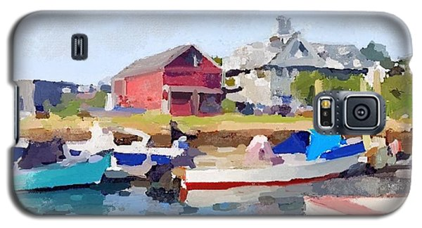 North Shore Art Association At Pirates Lane On Reed's Wharf From Beacon Marine Basin Galaxy S5 Case by Melissa Abbott
