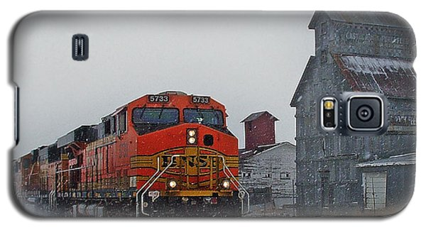 Northbound Winter Coal Drag Galaxy S5 Case by Ken Smith