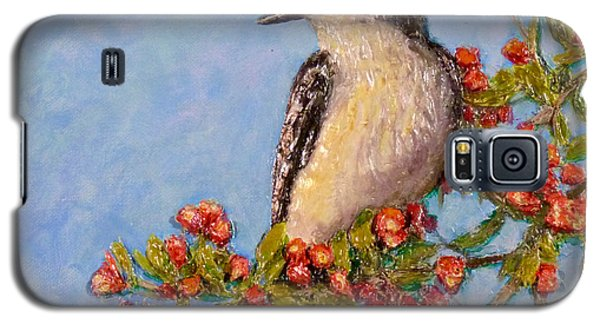Galaxy S5 Case featuring the painting Northern King Bird  by Joe Bergholm