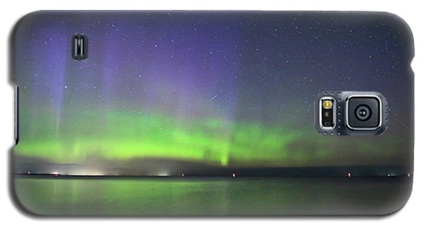 Northern Light With Perseid Meteor Galaxy S5 Case by Charline Xia