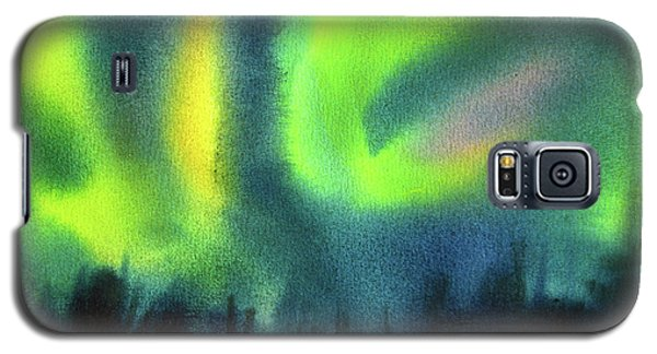 Galaxy S5 Case featuring the painting Northern Lights 3 by Kathy Braud