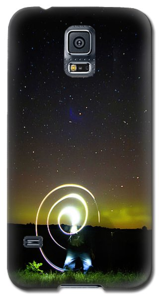 Northern Lights And Night Writing Galaxy S5 Case