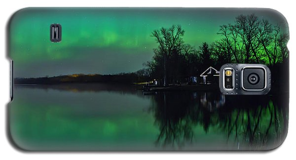 Northern Lights At Gull Lake Galaxy S5 Case