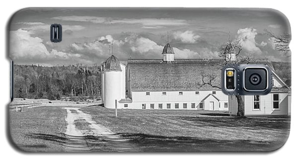 Galaxy S5 Case featuring the photograph Northern Michigan Farm Black And White  by John McGraw