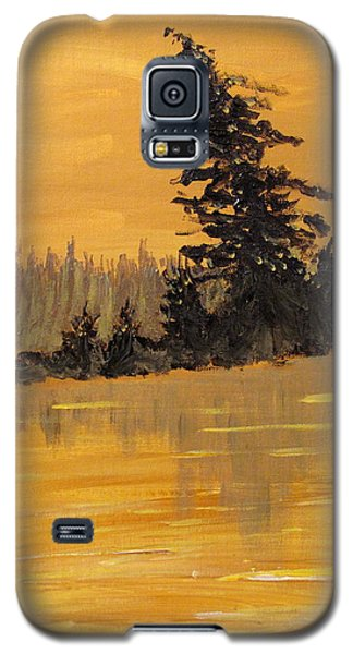 Galaxy S5 Case featuring the painting Northern Ontario Three by Ian  MacDonald