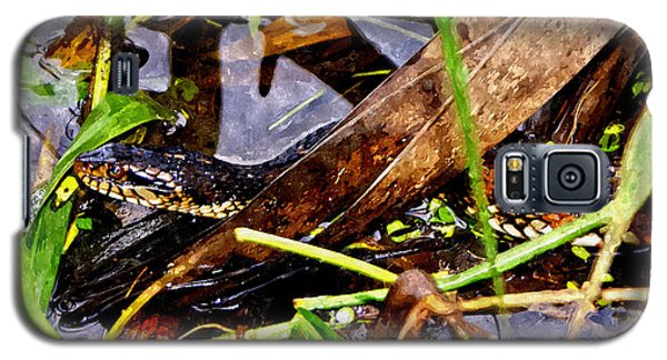Galaxy S5 Case featuring the mixed media Northern Water Snake by Olga Hamilton