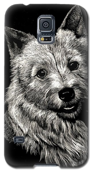 Galaxy S5 Case featuring the drawing Norwich Terrier by Rachel Hames