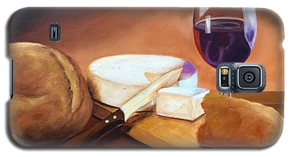 Galaxy S5 Case featuring the painting Not By Bread Alone  by Susan Dehlinger