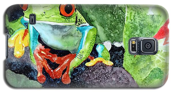 Galaxy S5 Case featuring the painting Not Kermit by Tom Riggs
