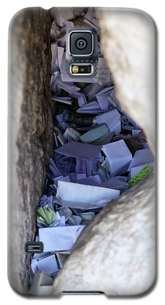 Galaxy S5 Case featuring the photograph Notes In The Wailing Wall  by Yoel Koskas