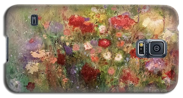 Galaxy S5 Case featuring the painting Nothing But Flowers by Frances Marino
