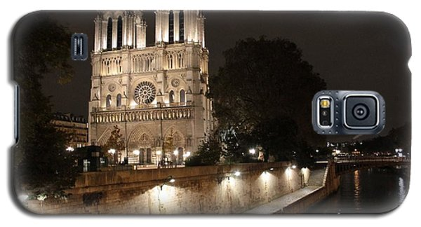 Galaxy S5 Case featuring the photograph Notre Dame Cathedral From Petit Pont by Christopher Kirby