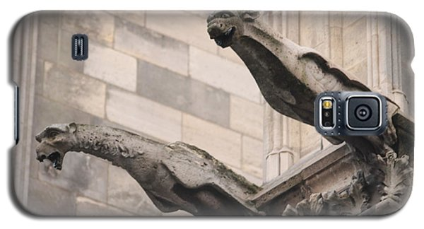 Galaxy S5 Case featuring the photograph Notre Dame Cathedral Gargoyles by Christopher Kirby