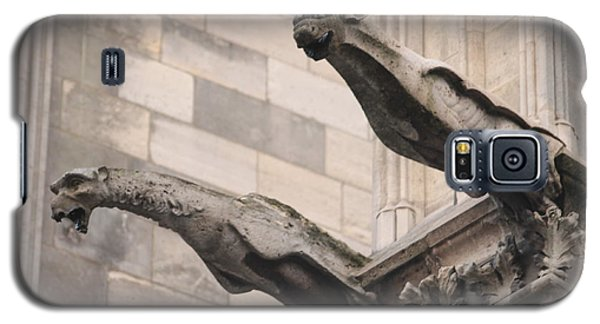 Notre Dame Cathedral Gargoyles Galaxy S5 Case by Christopher Kirby