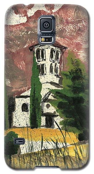 Galaxy S5 Case featuring the painting Notre Dame D'aubune by Martin Stankewitz