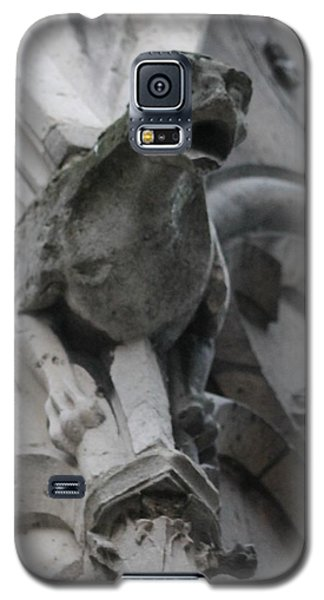 Galaxy S5 Case featuring the photograph Notre Dame Gargoyle Grotesque by Christopher Kirby