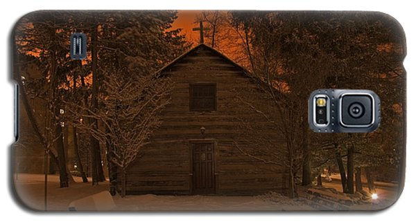 Notre Dame Log Chapel Winter Night Galaxy S5 Case