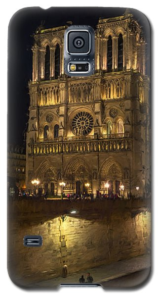 Notre Dame Night Painterly Galaxy S5 Case