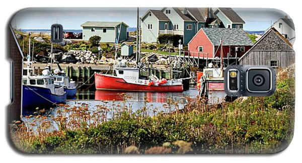 Galaxy S5 Case featuring the photograph Nova Scotia Fishing Community by Jerry Battle