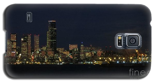 November Beaver Moon Rises Over Seattle Galaxy S5 Case